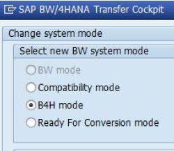 SAP BW/4HANA Operating Modes